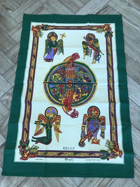 Book of Kells Cotton Tea Towel